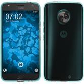 Silikon Hülle Moto X4 transparent türkis Case
