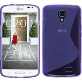 Silicone Case for LG F70 S-Style purple