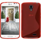 Silicone Case for LG F70 S-Style red