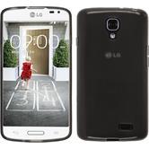 Silikonhülle für LG F70 transparent schwarz