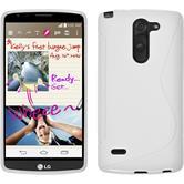 Silikon Hülle G3 Stylus S-Style weiß + 2 Schutzfolien