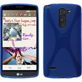 Silikon Hülle G3 Stylus X-Style blau + 2 Schutzfolien