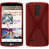 Silikon Hülle G3 Stylus X-Style rot + 2 Schutzfolien