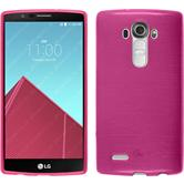 Silicone Case for LG G4 brushed hot pink