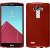 Silicone Case for LG G4 brushed red