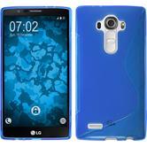 Silikon Hülle G4 S-Style blau + 2 Schutzfolien