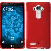 Silikon Hülle G4 S-Style rot + 2 Schutzfolien