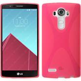 Silikon Hülle G4 X-Style pink + 2 Schutzfolien