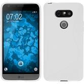 Silikonhülle für LG G5 S-Style weiß