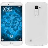 Silikonhülle für LG K10 S-Style weiß