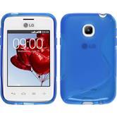 Silikon Hülle L20 S-Style blau + 2 Schutzfolien