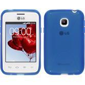 Silikon Hülle L20 X-Style blau + 2 Schutzfolien