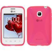 Silikon Hülle L20 X-Style pink + 2 Schutzfolien