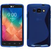 Silikon Hülle L60 S-Style blau