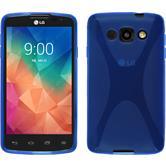 Silikon Hülle L60 X-Style blau