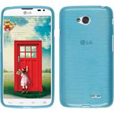 Silicone Case for LG L70 Dual brushed blue