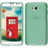 Silicone Case for LG L70 Dual brushed green