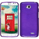 Silicone Case for LG L70 Dual brushed purple