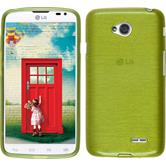 Silicone Case for LG L70 Dual brushed pastel green