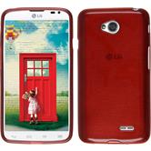 Silicone Case for LG L70 Dual brushed red