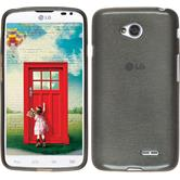 Silicone Case for LG L70 Dual brushed silver