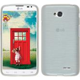 Silicone Case for LG L70 Dual brushed white
