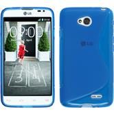 Silicone Case for LG L70 Dual S-Style blue