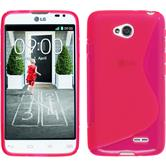 Silicone Case for LG L70 Dual S-Style hot pink