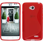 Silicone Case for LG L70 Dual S-Style red