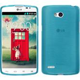 Silicone Case for LG L80 Dual brushed blue