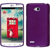 Silicone Case for LG L80 Dual brushed purple