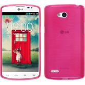 Silicone Case for LG L80 Dual brushed hot pink
