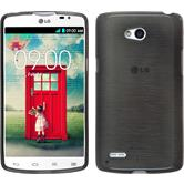Silicone Case for LG L80 Dual brushed silver