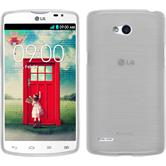Silicone Case for LG L80 Dual brushed white