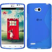 Silicone Case for LG L80 Dual S-Style blue