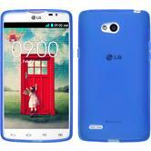 Silikon Hülle L80 Dual X-Style blau + 2 Schutzfolien