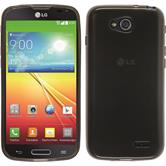 Silikonhülle für LG L90 transparent schwarz