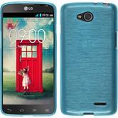 Silikonhülle für LG L90 Dual brushed blau