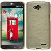 Silicone Case for LG L90 Dual brushed gold