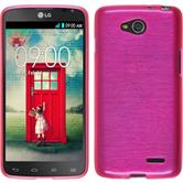 Silicone Case for LG L90 Dual brushed hot pink