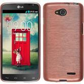Silikonhülle für LG L90 Dual brushed rosa