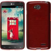 Silicone Case for LG L90 Dual brushed red