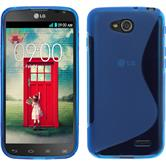 Silikon Hülle L90 Dual S-Style blau