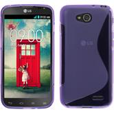 Silicone Case for LG L90 Dual S-Style purple