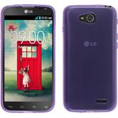 Silicone Case for LG L90 Dual transparent purple
