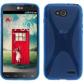 Silikonhülle für LG L90 Dual X-Style blau