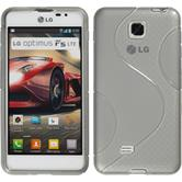 Silicone Case for LG Optimus F5 S-Style gray