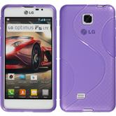 Silicone Case for LG Optimus F5 S-Style purple