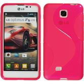 Silicone Case for LG Optimus F5 S-Style hot pink