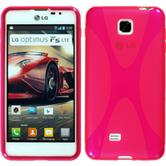 Silicone Case for LG Optimus F5 X-Style hot pink